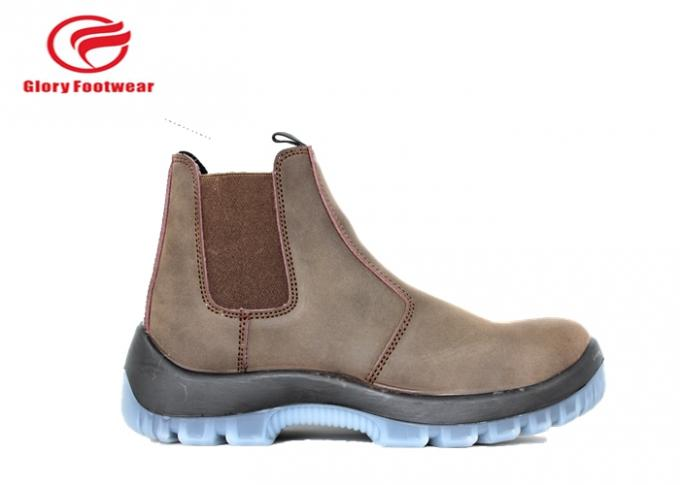 Fashionable Stylish  200J Steel Toe Work Shoes With Smooth Leather Oil Resistant