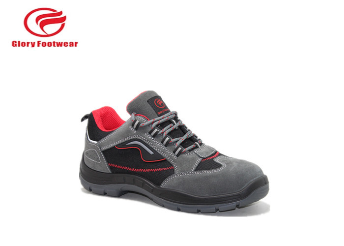 Breathable Red Lining Mesh Sport Safety Shoes , Steel Plant Lightweight Safety Trainers