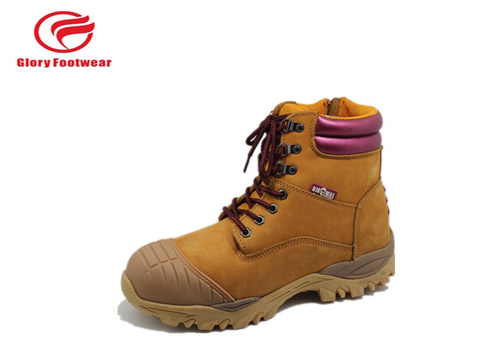 Flexible Factory Steel Toe Cap Safety Shoes Work Place For Men Anti-Static