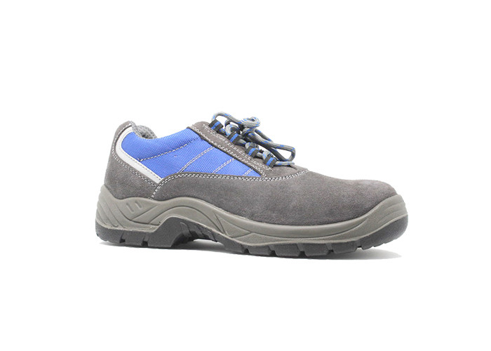 Suede Leather Upper Fashionable Athletic Safety Shoes For Workplace Mesh Lining
