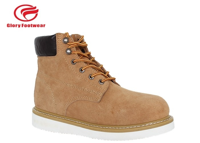 8763aff131d1d4 6 Inch Mens Dress Goodyear Welt Construction Boots PU Artificial Leather  With Sponge