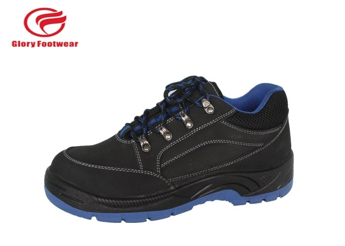 Genuine Leather Steel Toe Cap Safety Shoes Pu Sole Injection Slip Resistant