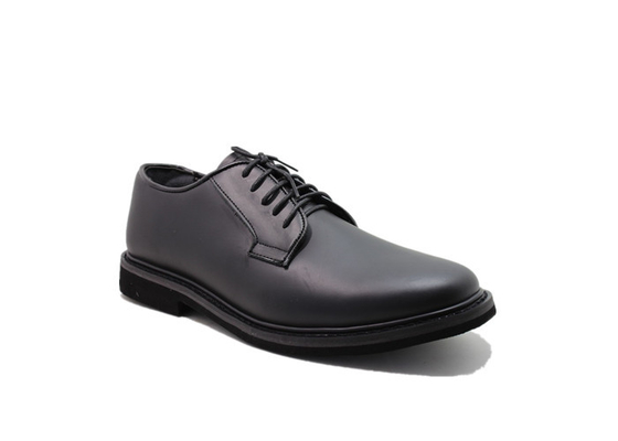 China Ceremonial All Leather Police Men Shoes With Smooth Genuine Leather Comfortable distributor