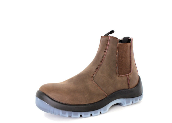 China Comfort Steel Toe Cap Hiking Waterproof Hunting Boots Cow Leather Office Without Zipper distributor