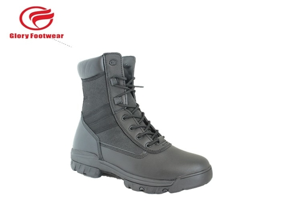 China Stitching S1 / S1P Standard Leather Military Boots , Black Desert Tactical Boots For Men factory