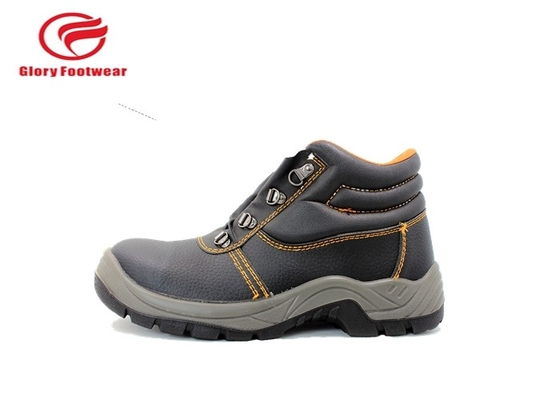 Split Leather PU Sole Safety Shoes , Automobile Engineering Working Ankle Safety Shoes