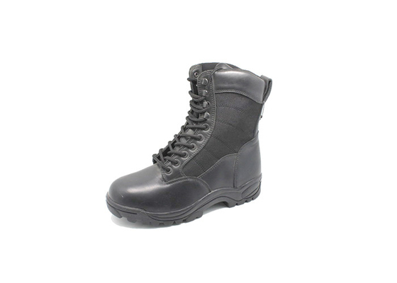 China High Leather Safety Dms Military Boots ,  Mens Black Lace Up Military Boots  Fashion factory