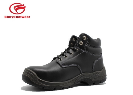 China Black Breathable Lightweight Steel Toe Boots For Mens  Embossed Color Optional distributor
