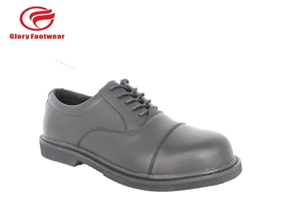 China Office Tactical Oxford Mens Police Leather Shoes Fashion Black Abrasion Resistant distributor