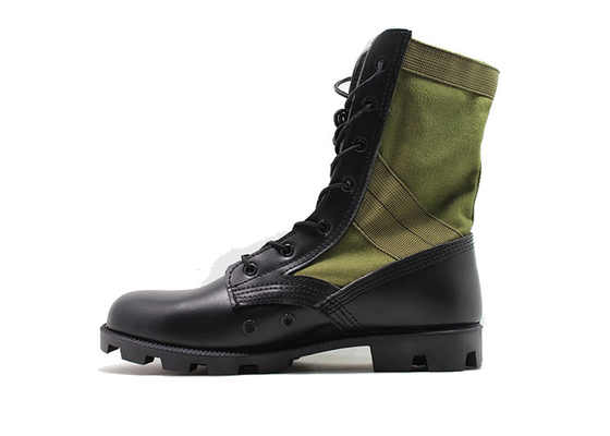 China 9 Inches Male Black Leather Military Jungle Boots High Molding With Breathable Mesh factory