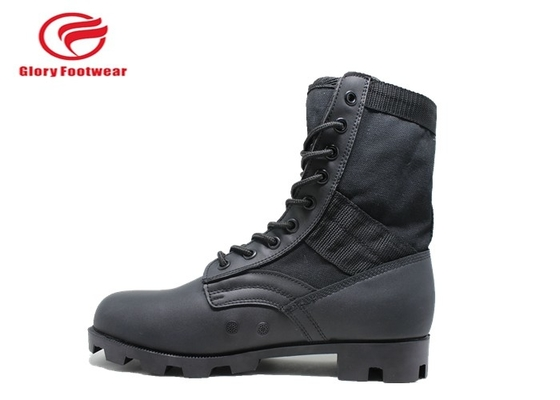 China oxford Leather Military Combat Boots , high top hunting army surplus jungle boots distributor