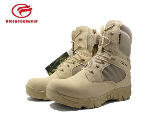 China Suede Leather  Waterproof Hunting Boots , Knee High Lace Up Mens Camouflage Winter Boots distributor
