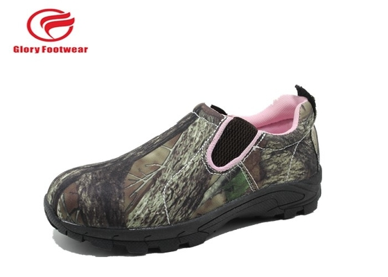 China Olive Green Army Summer Low Top Waterproof Hunting Boots Rubber Outsole Camouflage distributor