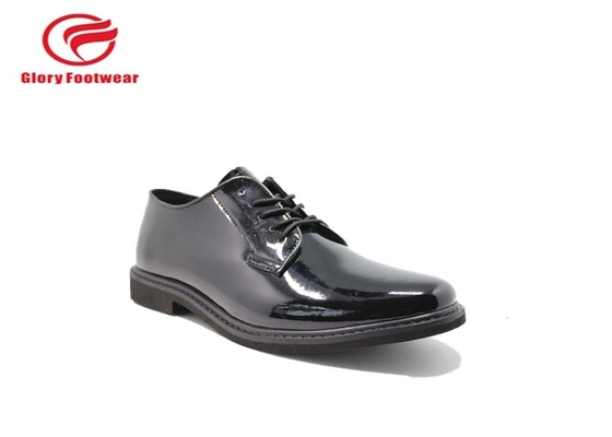 China Shineable Breathable Police Leather Shoes With Action Leather / Microfiber Upper distributor