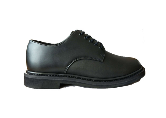 China Lightweight Split Leather Police Leather Shoes , Shiny  Lace Up Army Officer Shoes factory